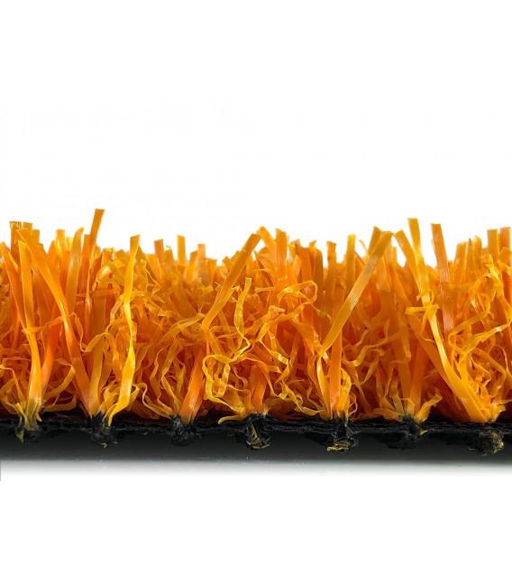 cesped artificial barato colores modelo naranja perfil corto