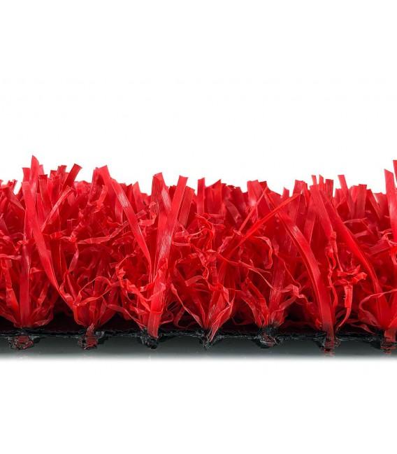 cesped artificial barato colores modelo rojo perfil corto
